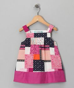 Take a look at this PinkPatchwork Dress - Toddler & Girls by Katie & Co. on #zulily today!