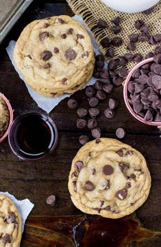 WORST Chocolate Chip Cookies Ever. Oh boy, I wish I'd never discovered this recipe! Cookie Desserts, Just Desserts, Cookie Recipes, Delicious Desserts, Dessert Recipes, Yummy Food, Bar Recipes, Cheesecake Recipes, Yummy Yummy