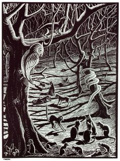 """He who wonders discovers that this in itself is a wonder."" — M.C. Escher (1898-1972) The Graphic Work of M.C. Escher (1959) — Image: [""If you go out in the woods today…""] Illustration for The Terrible Adventures of Scholastica (1931) — #wonder #miracle #contemplation #MCEscher #quoteoftheday"
