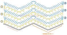 Cómo tejer el punto zig zag  a crochet