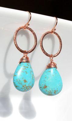Aqua Turquoise with Copper