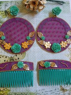 aros de flamenca forrados de plumeti Flamenco Party, Flamenco Costume, Spain Fashion, Earring Cards, How To Make Earrings, Beading Tutorials, Cute Designs, Jewelry Stores, Diy And Crafts