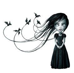 HALLOWEEN GIRL AND BATS