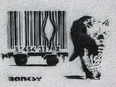 Lleopard de Bansky. Idea genial d'un artista genial.