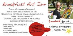 Art Jamming in Jan at Perth City Farm!  Perfect Christmas gift idea.