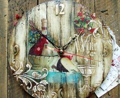 """Купить Часы """"...пьянее чем вино"""" - комбинированный, часы, часы настенные"""