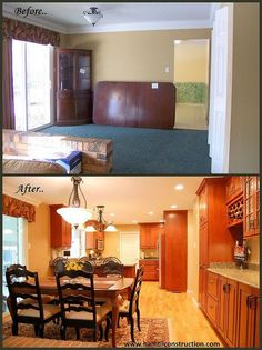cherry cabinetry warm and beautiful, closet, kitchen cabinets, kitchen design, Kitchen remodel Before and After