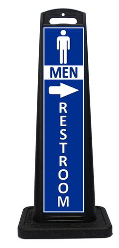 Portable restoom sign lets customers know where the bathrooms are. These all weather portable signs feature directional arrows to point customers in the right direction. Portable Signs, Sidewalk Signs, A Frame Signs, Bathroom Signs, Outdoor Events, Custom Labels, Indoor, Arrows, Bathrooms