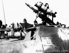 German Infra-red siting-equiped weapon Sd.Kfz.251/20