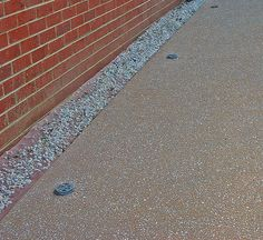 Driveway fixed after washed ag goes wrong. Exposed Aggregate Concrete, Ph, Patio, Creative, Terrace, Porch, Courtyards