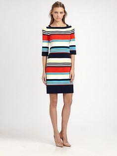 Milly - Camden Multi-Stripe Knit Dress - Saks.com