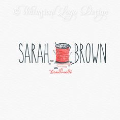 OOAK Sewing Logo design  Watermark by WhimsicalLogoDesign on Etsy, $75.00