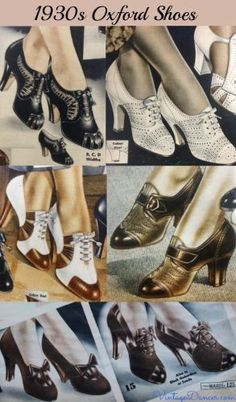 1930s oxford shoes heels