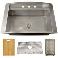@Overstock.com - Ticor Royal Stainless Steel 16-gauge 33x22 Overmount Kitchen Sink - This Ticor-designed drop in sink with its large square basin make working in your kitchen easy and efficient. Every Ticor sink is manufactured with a heavy-duty undercoating and coupled with an excellent sound dampening system.  http://www.overstock.com/Home-Garden/Ticor-Royal-Stainless-Steel-16-gauge-33x22-Overmount-Kitchen-Sink/5576250/product.html?CID=214117 $437.99