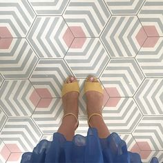 Grey, white and pink hexagonal geometric cement tile pattern from Mosaic Factory. Grey, white and pink hexagonal geometric cement tile pattern from Mosaic Factory Geometric Tiles, Hexagon Tiles, Grey Patterned Tiles, Grey Mosaic Tiles, Mosaic Floors, Mosaic Bathroom, Bathroom Floor Tiles, Kitchen Tiles, Tile Floor