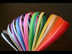 How To Make Your Own Quilling Paper Strips - YouTube