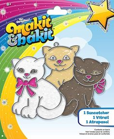 Colorbok MaKit, and BaKit, Glittering Suncatcher Kits, Kittens -- You can get more details at