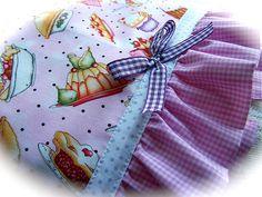Addicted to Ruffles. A delicious tea towel. Gingham Fabric, Polka Dot Fabric, Polka Dots, Dish Towels, Tea Towels, Decorative Trim, Sweet Tea, Shabby, Pot Holders