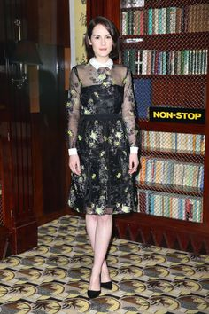 Michelle Dockery - Non Stop Photocall in London 30 January 2014 in Erdem Resort 2014 Dress, Rupert Sanderson Pumps