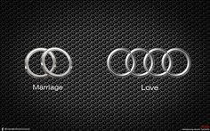 Warning for the men: Don't let your wife see this especially if you plan on buying a new Audi anytime soon (unless of course it is for her! - New Sites My Dream Car, Dream Cars, Audi Quotes, Audi R8 Wallpaper, Car Jokes, Buy Youtube Subscribers, Acura Tsx, Audi Rs6, Love Car