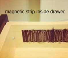 Magnetic strip to store hair clips