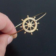 Nautical Wheel Bangle Bracelet $15.50, via Etsy.
