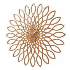 Buy Karlsson Wood Sunflower Clock from our Wall Clocks range at Red Candy, home of quirky decor. Deco Design Pas Cher, Funky Town, Deco Spa, Mini Sunflowers, England Houses, Fleur Design, Outdoor Clock, Quirky Decor, Wall Clock Design