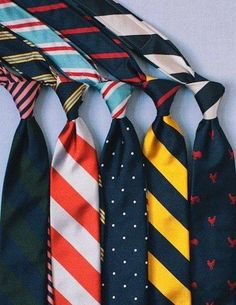 Assortment of patterned ties