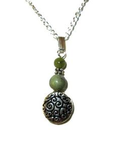 Its unique green color symbolizes Ireland and is caused by the presence of various elements. It is said to bring serenity to those who keep it close. Connemara Marble Necklace-Large Circle2 Beads-Irish Made  Price : Sale  $23.96 Our price: $29.95 You save $5.99 (20%) http://www.biddymurphy.com/Connemara-Marble-Necklace-Large-Circle-Beads-Irish/dp/B007W23IV2