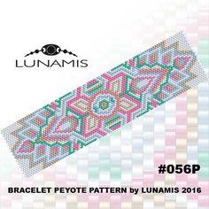 Bracelet pattern, peyote pattern, stitch pattern, pdf file, pdf pattern, #056P by LunamisBeadsPatterns on Etsy