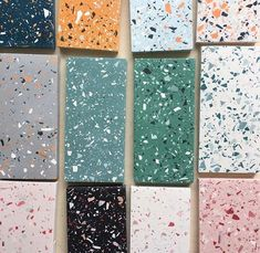 Various samples of the terrazzo style…just cause! Updating my bathroom design plans with a tropical botanic theme… Terrazzo Tile, Tile Floor, Tiling, Small Bathroom Redo, Bathroom Plans, Bathroom Ideas, Bathroom Layout, Neutral Bathroom, Simple Bathroom