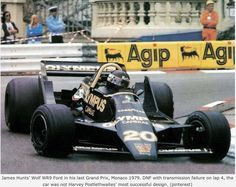 James Hunt, Wolf WR9 Ford. Hunt retires his car and ends his career, Monaco 1979...