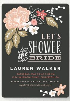 Let's Shower the Bride!