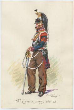 Corazzieri del 13 rgt. corazzieri, 1813