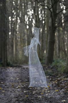 Chickenwire Contemplative, Restful, Thougtful #sculpture by #sculptor William Ashley-Norman titled: 'Ghost' #art