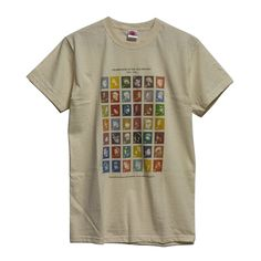Organic Golden Era HipHop Stamps TShirt - available from http://madina.co.uk