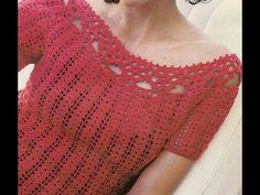 4° BLUSA TEJIDA A CROCHET PASO A PASO/woven blouse - YouTube