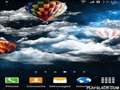 Night Sky By Amax Lwps  Android App - playslack.com , Night sky by Amax lwps - pretty live wallpapers with balloons floating among soft clouds on the background of a great night sky, starry stars and meteoroid shower.