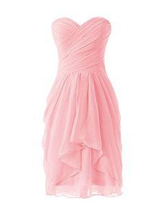 Dressystar Robe de demoiselle d'honneur/soirée/bal courte, à Col en Cœur,en Mousseline Taille 36 Rose Dressystar http://ebay.to/1IG8vWE