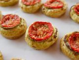 Ree Drummond is throwing a cocktail bash for the crew helping to open her store in town. There's a delicious line up of make-ahead portable canapes on the menu: juicy Asian Beef Skewers, retro Ham Salad in Endive Cups, simple Salami Roll Ups, a no-cook Crudite platter and divine Tiny Tomato Tarts. There are sweet treats too -- decadent Black and White Brownies and chewy Caramel Nut Truffles -- plus a Pawhuska Prohibition Punch to toast the team.