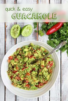Quick & Easy Guacamole (keto, paleo, low-carb, vegan)