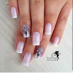 "773 curtidas, 4 comentários - Inspirações para as unhas (@keycacau) no Instagram: ""@fransedoski #unhaskeycacau #unhasdediva #joiasdeunhas"" Frensh Nails, Love Nails, Fun Nails, Pretty Nails, Acrylic Nails, Pink Nail Art, Cute Nail Art, Bridal Nails, Wedding Nails"