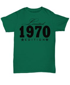 1964 Limited Edition any year personalized Birthday Party Great Birthday Gifts, Baby Shirts, Birthday Shirts, Long Sleeve Tees, T Shirts For Women, Trending Outfits, Prints, Mens Tops, Stuff To Buy
