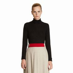 Forme Turtleneck Sweater in Black by Trademark