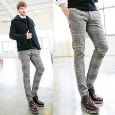 Mens Fashion Camouflage Casual Cotton Pants Slim Fit Casual Skinny ...