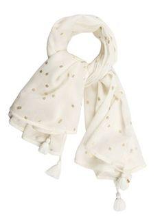 aa8d26604fe Foulard en laine Blanc by DES PETITS HAUTS Mode Femme Fashion