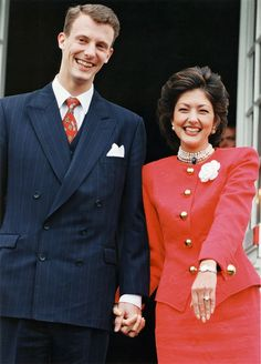 1994: Alexandra and Prince Joachim at the announcement of their engagement at Fredensborg Palace
