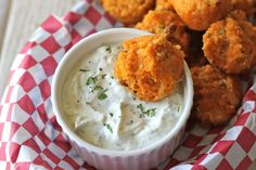 Buffalo Chicken Quinoa Bites with Blue Cheese Ranch Dipping Sauce