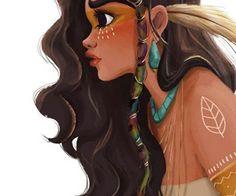 Parece uma mistura da Tainá, a Índia com alguma índia americana linda... Ou só uma menina querendo pagar de hippie.