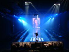 Iluminação cenica, evento da agência Elite Model